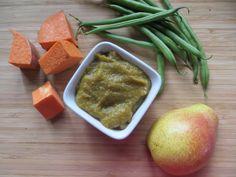 Zelené fazolky s batáty a hruškami