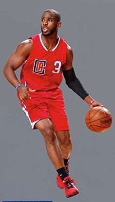 Chris Paul FATHEAD Jr Los Angeles Clippers Official NBA Vinyl Wall Graphic  35 INCH     Find out more about the great product at the image link. 6722123be