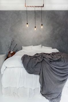 40 Luxurious Grey Bedroom Designs You Will Adore Grey Bedroom Design, Grey Bedroom With Pop Of Color, Gray Bedroom, Home Bedroom, Master Bedroom, Bedroom Decor, Bedroom Designs, Bedrooms, Bedroom Ideas