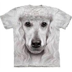 T-shirt med Puddel ansigt