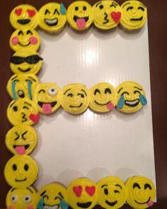 E Emoji Cupcake Cake