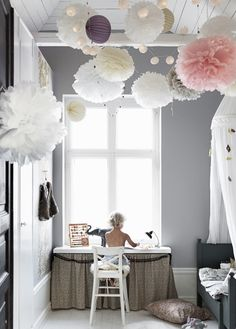 34 Unique Scandinavian Kids Bedroom Design To Make Your Daughter Happy. Our children spend most of their time in their own room, either playing games or studying, watching cartoons, etc. Girls Bedroom, Bedroom Decor, Bedroom Ideas, Master Bedroom, Budget Bedroom, Bedroom Furniture, Ideas Habitaciones, Scandinavian Kids, Scandinavian Interior