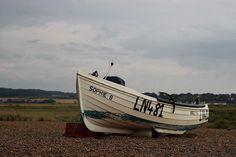 Crabbing boat at Cley