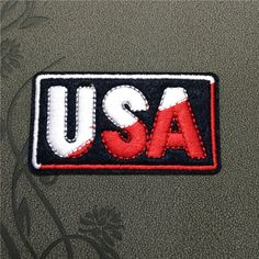 USA Patches iron on patches Sew on patches Words patches