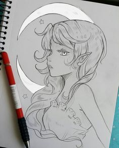 """In the moonlight I will wait, I will silently yearn for you"" Moon elf -- Larienne.deviantart.com --"