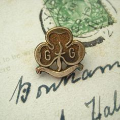 Vintage Brass Girl Guides Promise Badge from Hoolala by hoolala, $14.50