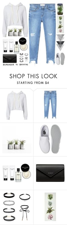 """""""You got me changing my schedule 💁🔥✨"""" by itaylorswift13 ❤ liked on Polyvore featuring Monrow, MANGO, Vans, Bobbi Brown Cosmetics, Balenciaga and Alöe"""