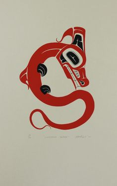 Lightning Snake - Limited Edition Serigraph by Art Thompson