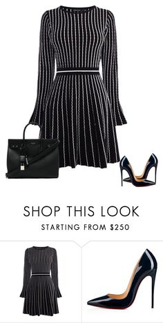 """Work chic!"" by cristalmichel ❤ liked on Polyvore featuring Karen Millen, Christian Louboutin and Yves Saint Laurent"