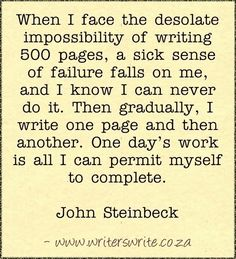 For writers ...