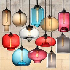 Wholesale Price American Vintage Pendant Lights Creative Glass  Lamp  Parlor Eating Room Ceiling Lamp