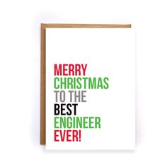 christmas cards for engineers, handmade greeting cards, holiday cards, merry christmas card, engineer gifts, mechanical, civil, army GC28 by artRuss on Etsy