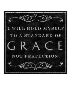 'Grace Not Perfection' Canvas Wall Art