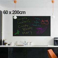 60x200cm Chalk Board Blackboard Stickers Removable Vinyl Draw Decor Mural Decals Art Chalkboard Wall Sticker For Kids Rooms