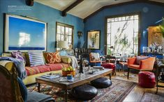 Apartment Therapy's Maxwell Ryan shares 5 top design trends - The Washington Post Cozy Living Rooms, My Living Room, Living Room Decor, Living Spaces, Dining Room, Apartment Therapy, Apartment Living, Diy Photo, Eclectic Decor