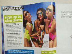Model CRYSTAL Tillman in Self Magazine 2013
