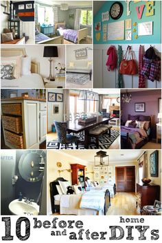 10 DIY Room Makeovers For Every Room In Your Home via Remodelaholic.com