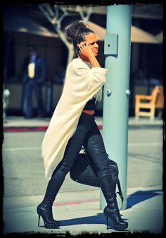 The Voice social media correspondent Christina Milian out and about. #TheVoice