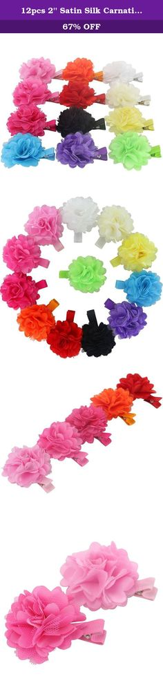 12pcs 2'' Satin Silk Carnation Rose Fabric Flower With Lined Hair Clips. BIG VALUE PACK WE LOVE THESE FASHION BABY HAIR BOWS!Beautiful infant grosgrain bows ties available in different colors.They boutique Cute hair bows are Hand crafted,delicate and exquisite workmanship,the color of the cheap simple hair bows are elegant and fashion,Fashionable and generous,lovely shape, girls ribbon hair bows is a beautiful treasure who travel with tide grosgrain diy bows products.You will get the…