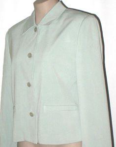 TALBOTS Washed Silk Oversized Boxy Suit Jacket 6/8 NWT Light Sage #Talbots #SuitJacketBoxyJacket