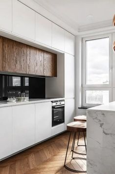 kitchen interior These minimalist kitchen suggestions are equivalent parts calm and trendy. Find the most effective concepts for your minimalist design kitchen that fits your taste. Browse for incredible photos of minimalist style kitchen for motivation. Best Kitchen Designs, Modern Kitchen Design, Interior Design Kitchen, Modern Interior Design, Interior Ideas, Interior Styling, Minimalist Kitchen, Minimalist Style, Minimalist Design