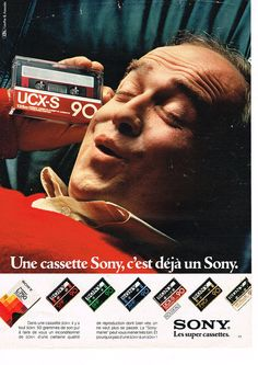 PUBLICITE ADVERTISING 084  1982  SONY   cassettes UCX-S 90 VIDEO