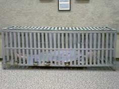 Crib: Asylum device. Loacted at Glore Psychiatric Museum in St. Joseph, Missouri