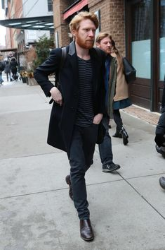 Domhnall Gleeson Photos - Domhnall Gleeson is seen out in New York City on Jan. 31, 2018. - Domhnall Gleeson Goes Out in NYC