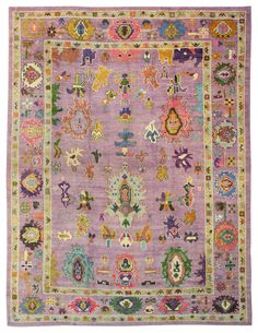 Feb 2018 - Oushak Rugs Gallery: Oushak Rug, Hand-knotted in Turkey; size: 10 feet 1 inch(es) x 13 feet 8 inch(es) Room Rugs, Rugs In Living Room, Area Rugs, Persian Carpet, Persian Rug, Textiles, Stair Rugs, Discount Rugs, Rugs Usa