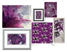 """""""Art & colour : purple"""" by mia-de-neef ❤ liked on Polyvore featuring art"""