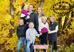 family picture ideas - like the pop of color for the girls!!!