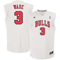 0cb99991f Dwyane Wade Chicago Bulls adidas Fashion Replica Jersey - White