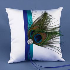 Peacock Plume Pillow