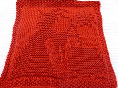 Dishcloth with witch design; pattern is charted. Can be used for double knitting as well. Will make beautiful potholder or patch for a blanket. Dishcloth Knitting Patterns, Crochet Dishcloths, Knit Or Crochet, Loom Knitting, Knit Patterns, Free Knitting, Baby Knitting, Halloween Knitting Patterns, Knitting Projects