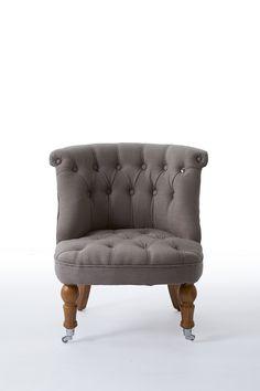 Кресло серое с капитонами на колесиках Chesterfield Chair, Armchair, Park Avenue, Accent Chairs, Ottoman, Furniture, Home Decor, Sofa Chair, Upholstered Chairs