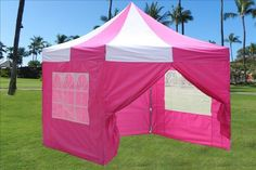10'x10' Pop up 4 Wall Canopy Party Tent Gazebo EZ Pink White - E Model Deltacanopy http://www.amazon.com/dp/B00F7N5EQK/ref=cm_sw_r_pi_dp_vVu1tb01453H29NR
