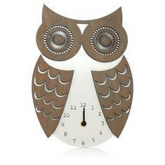 George Home Owl Clock Pinned by www.myowlbarn.com
