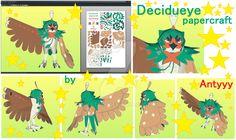 Decidueye (Sun and Moon) papercraft by Antyyy.deviantart.com on @DeviantArt