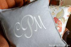 Monogrammed Pillow |