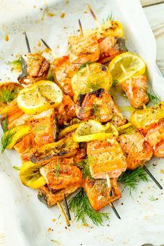 Mediterranean Salmon Skewers