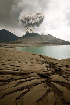 Tavurvur, volcano, Papua New Guinea ★