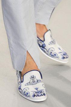 Vivienne Westwood Men's Spring 2013 Delftware Men's Loafers