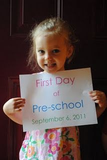 First day of school signs.