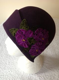 Vintage inspired 20's purple cloche hat 'violet'....    love this!!!