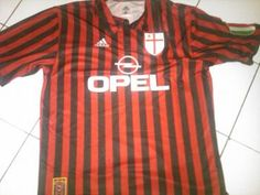 AC Milan football shirt 1999 - 2000 sponsored by Opel Football Shirts, Football Team, Milan Football, Ac Milan, Sports, Fashion, Hs Sports, Moda, Soccer Jerseys