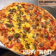 "Eat a Pizza On ""PI Day""! #strawberryspub #woodbridgenj #njpizza"