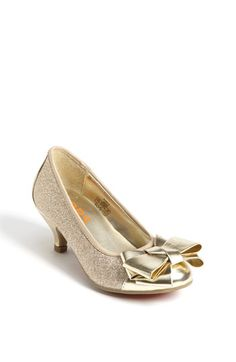 Fabulous LIttle Girls Heels - GOLD - Shoes. Velcro closure ...