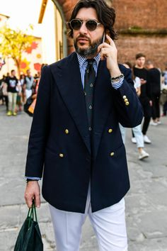 Older Mens Fashion, Suit Fashion, Double Breasted Suit Men, Nautical Outfits, Most Stylish Men, Business Casual Men, Sartorialist, Summer Suits, Men Style Tips