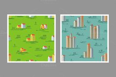 Check out Cityscapes Seamless Pattern by serkorkin on Creative Market