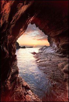 1.Sea Cave, Mewstone, England